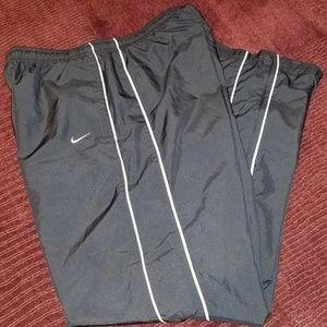 NIKE BLACK LINED Soccer PANTS Large